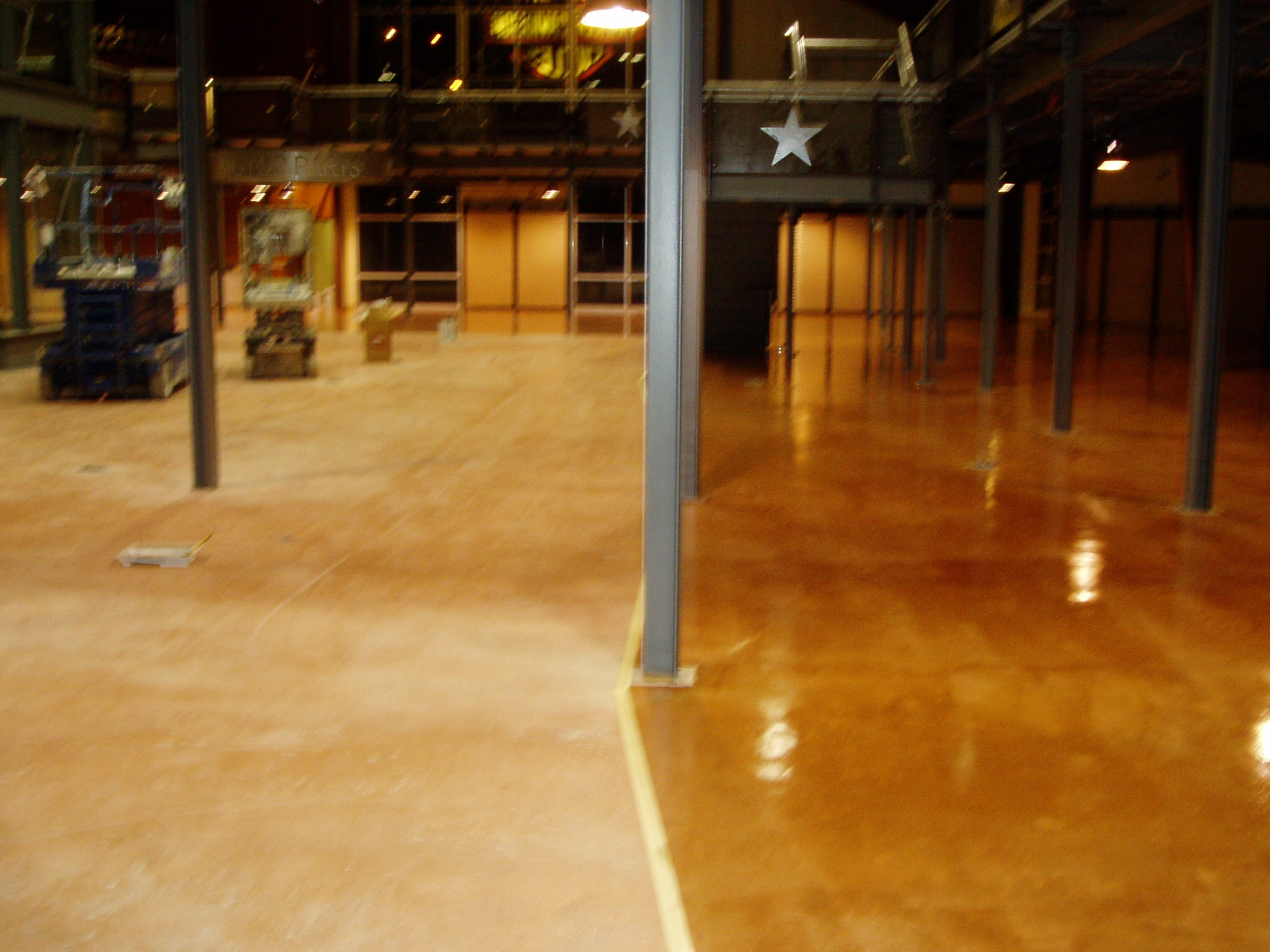 Image gallery how seal concrete floor for Bleach on concrete floor