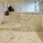 Concrete Bathroom - Tile Scored